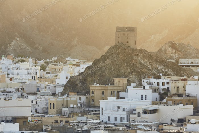 Cityscape view of Muscat