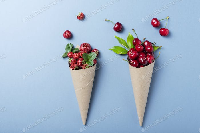 Summer concept and concept of healthy eating