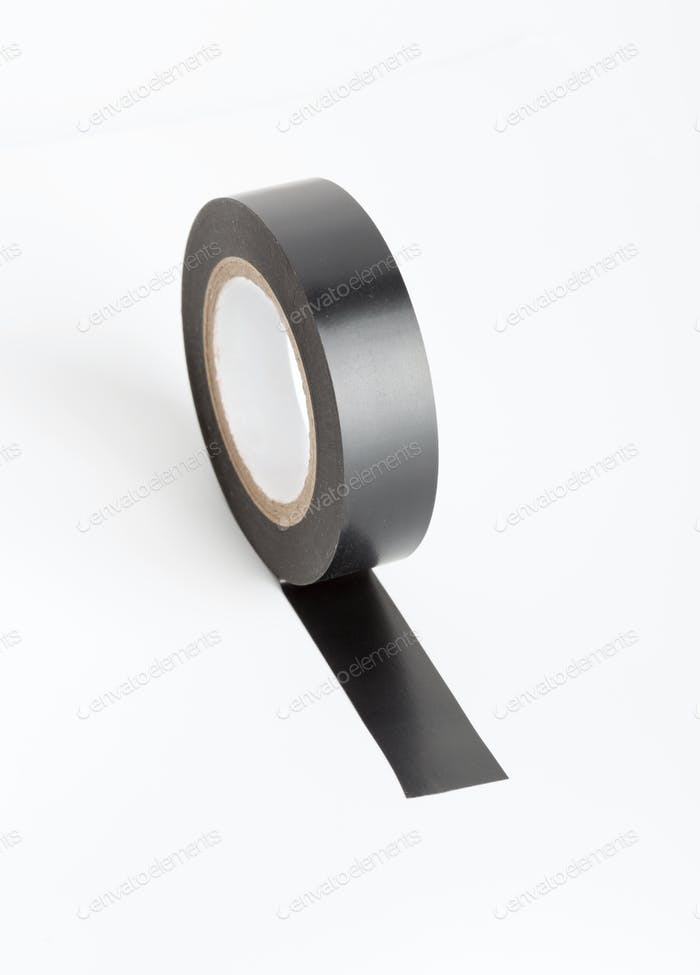 Black industrial tape