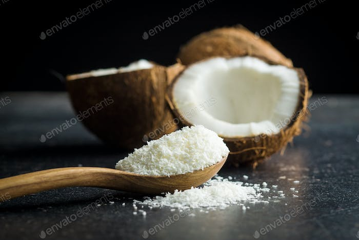 coconuts with coconuts flakes.