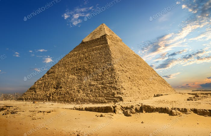 Landscape with pyramid