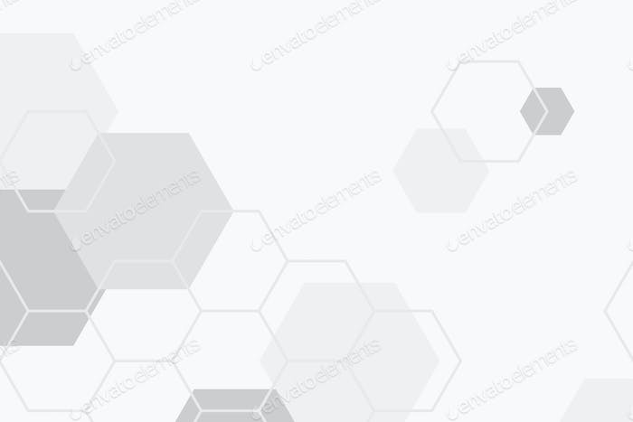 Gray hexagonal patterned background