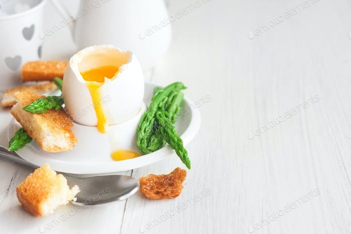 Soft boiled egg background