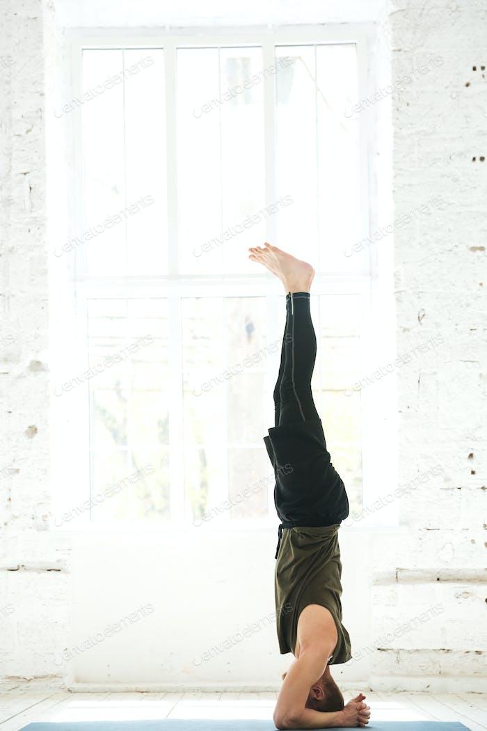 Yoga Man Doing Yoga Workout Foto Von Vadymvdrobot Auf Envato Elements