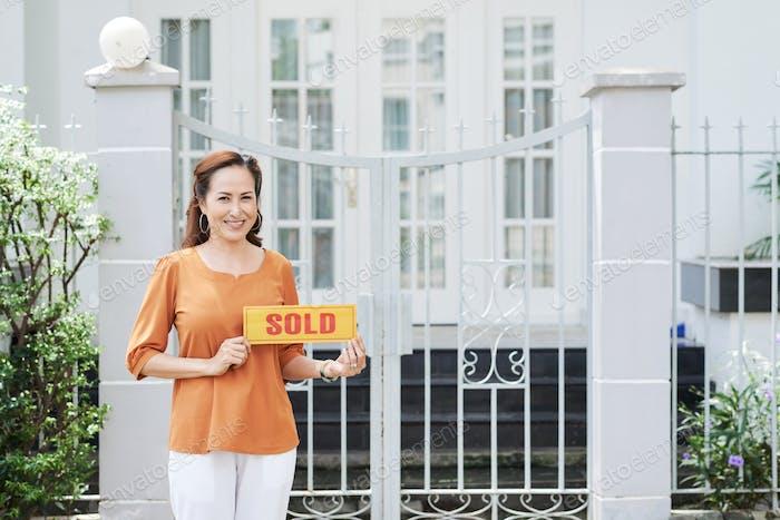 Haus wird verkauft