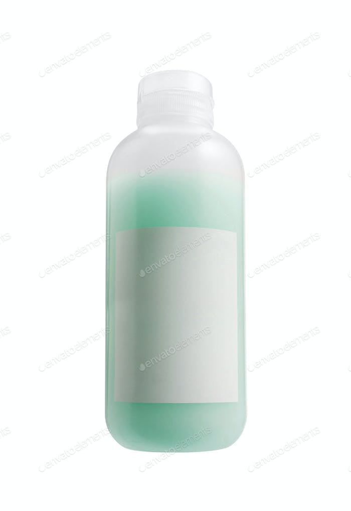 Shampoo big bottle isolated on white