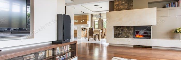 Wooden floor in new house