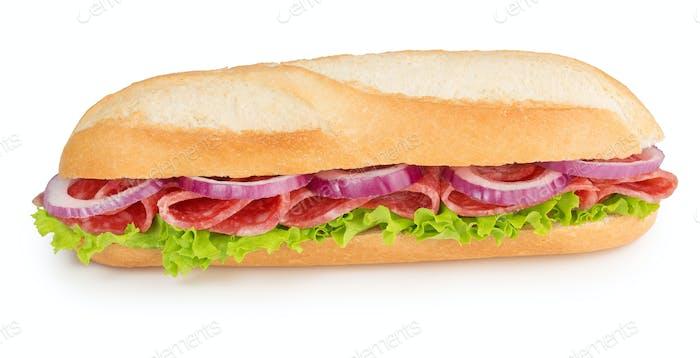 salami and onion sandwich
