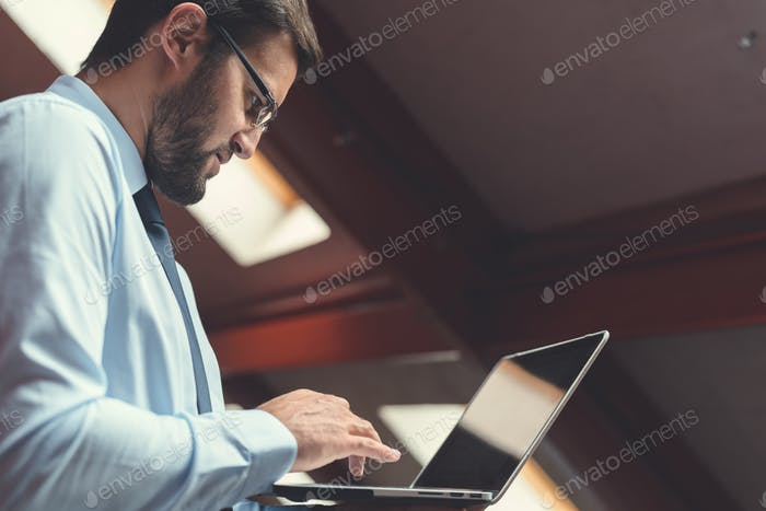Professional with laptop
