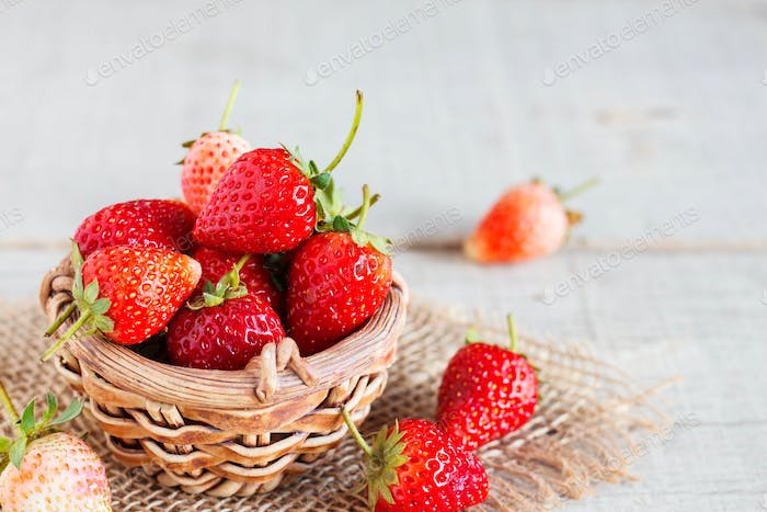 Fresh strawberries on the table