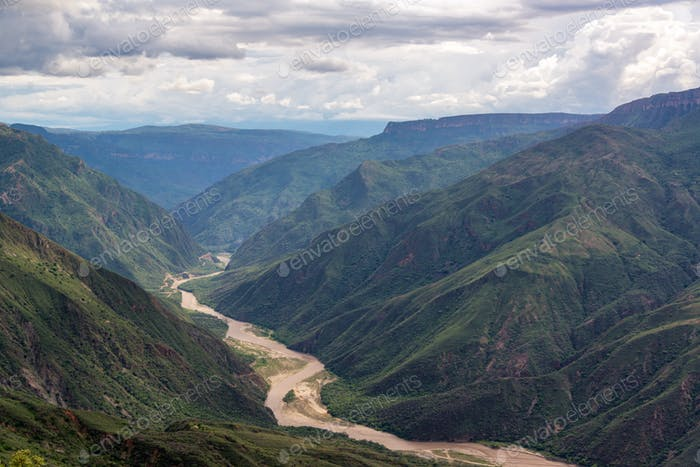 Chicamocha Canyon and River