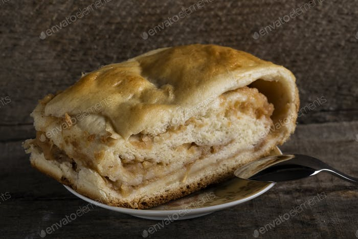 Homemade strudel pie