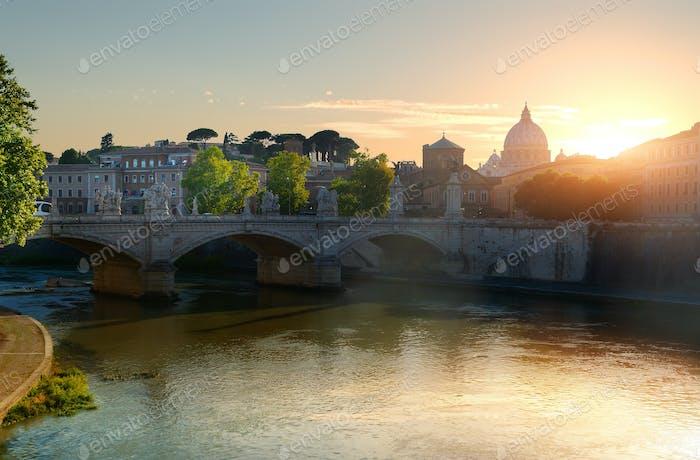 Vatikan und Brücke