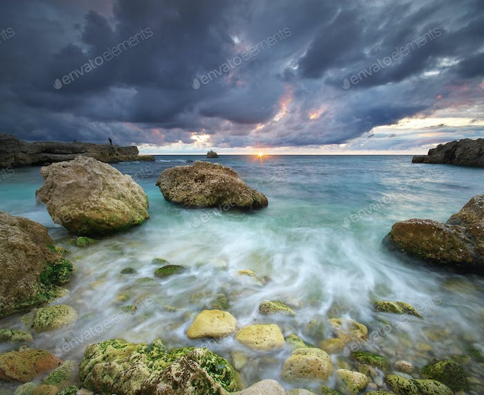 Beautiful stormy seascape.