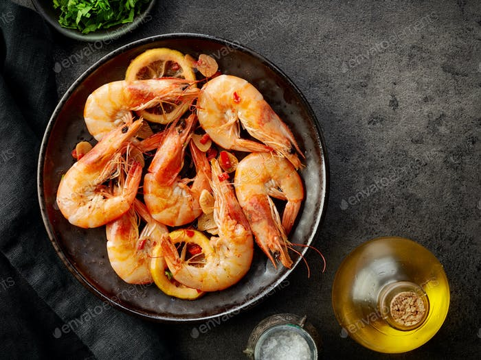 plate of fried prawns