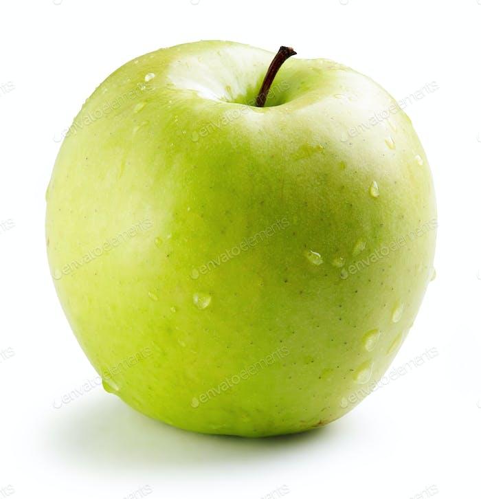 nasser grüner Apfel
