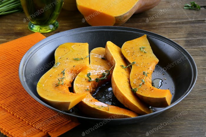 Pumpkin Baked with Herbs and Spices