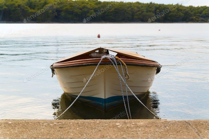 Row boat on the sea