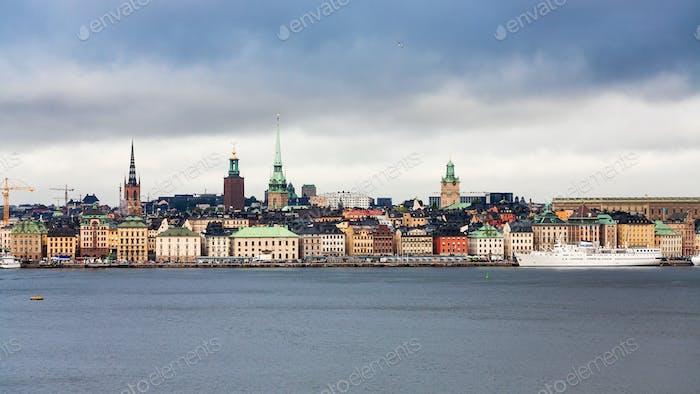 Panoramablick auf das Zentrum von Stockholm