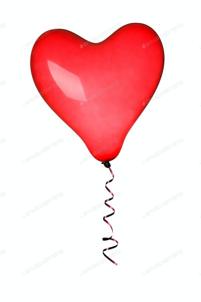red heart ballon