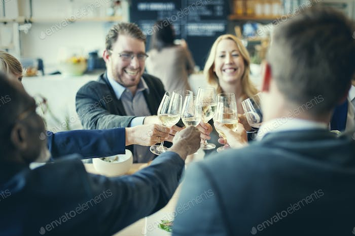 Business People Toast Success Achievement Colleagues Corporate C
