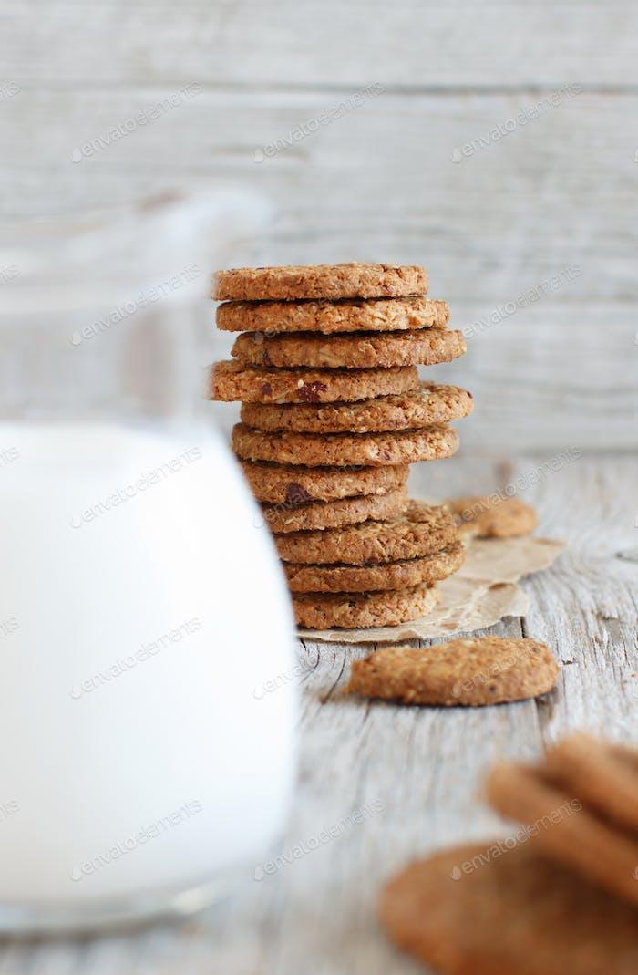 Homemade oatmeal cookies