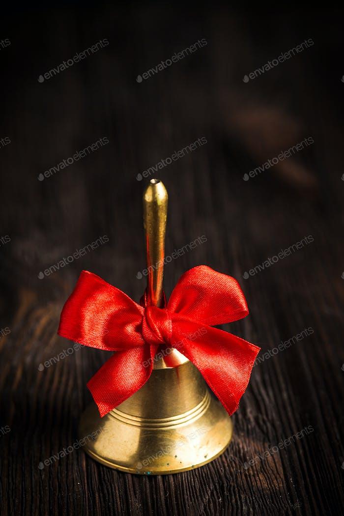 Antique brass hand bell