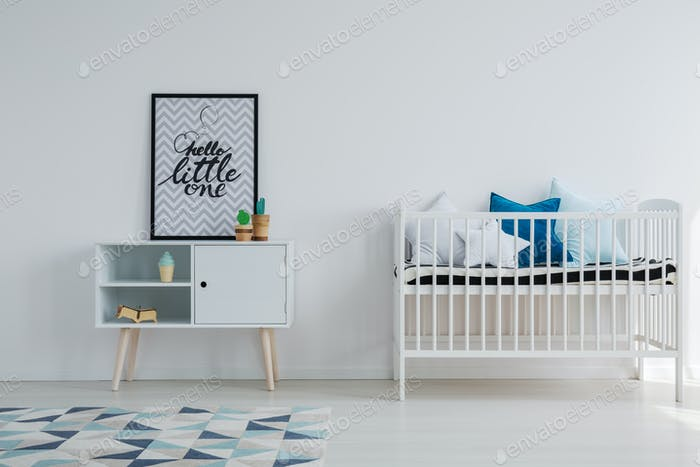 Baby room in scandi apartment
