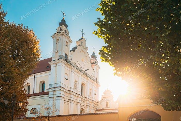 Pinsk, Region Brest, Weißrussland. Kathedrale des Namens der Seligen Jungfrau Maria Und Kloster Der