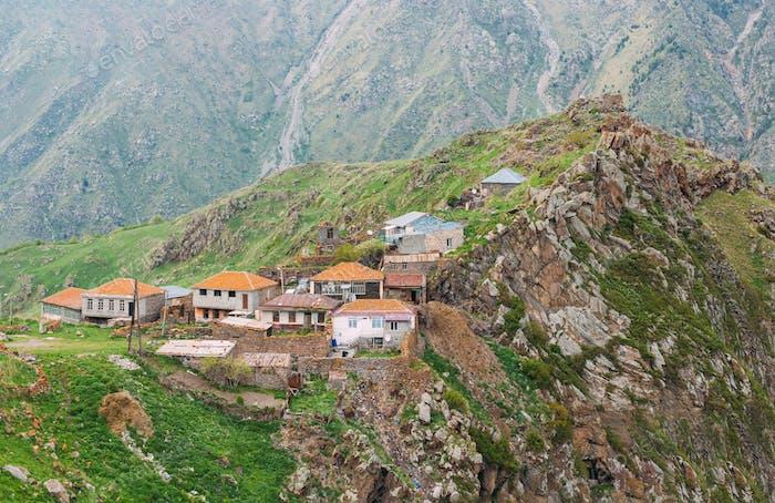 Village Tsdo In Truso Gorge, Kazbegi District, Mtskheta-Mtianeti