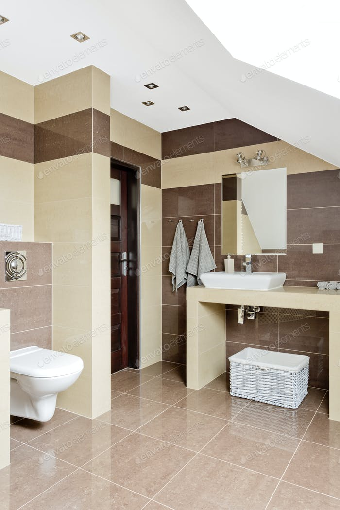 Modern spacious bathroom