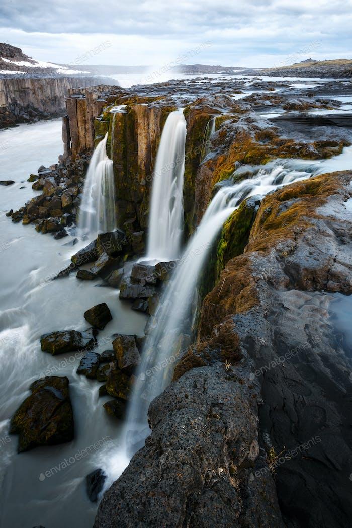 Famosa cascada Selfoss