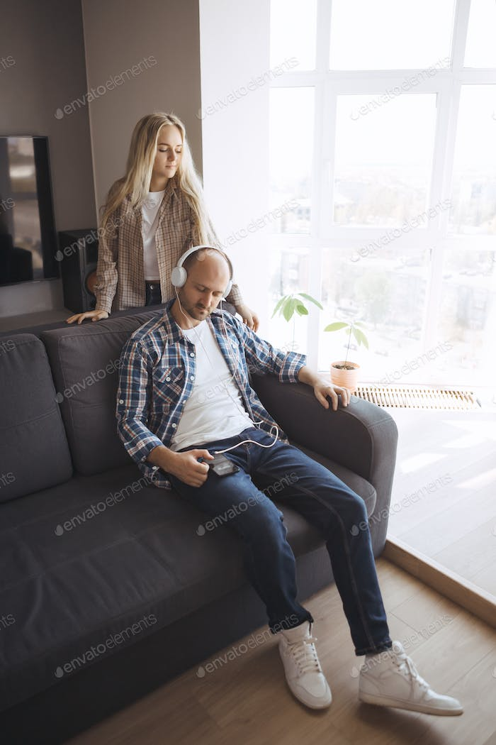 Couple Resting Spending the Time at Home