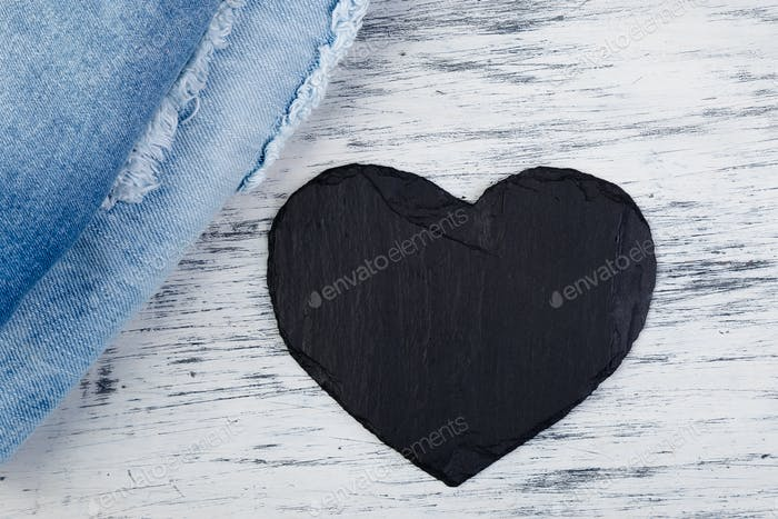 Denim. Jeans texture background. Valentine Day.