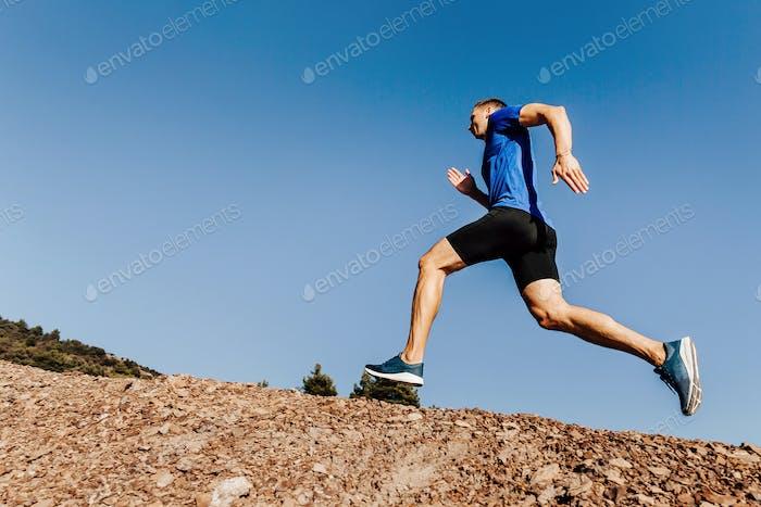 athlete runner run stone trail