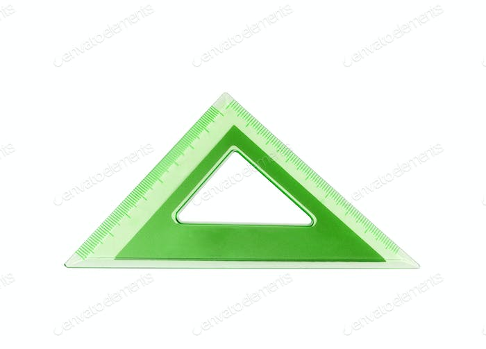 green school triangle isolated on white