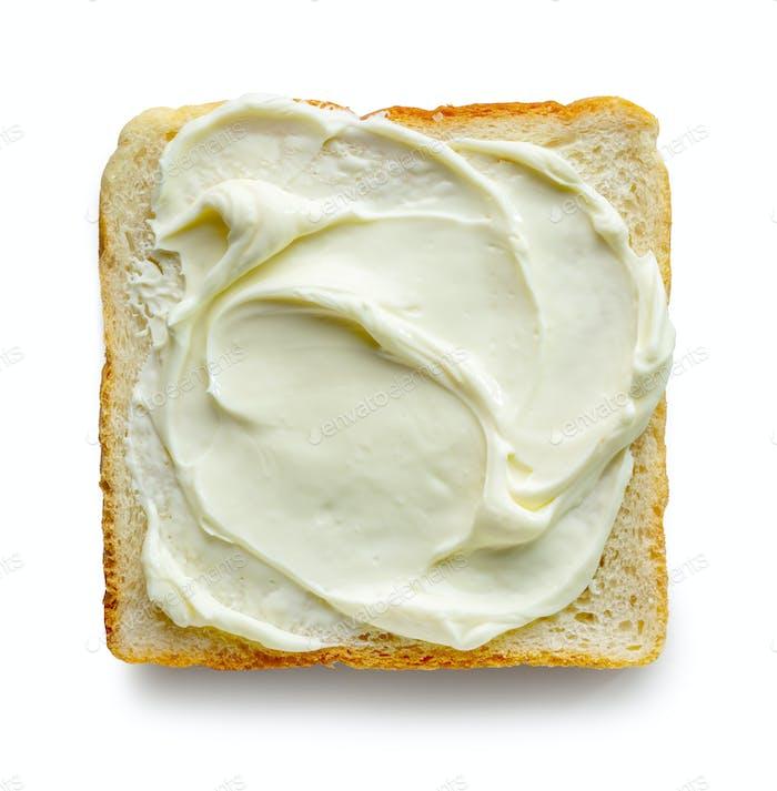 geröstetes Brot mit Frischkäse