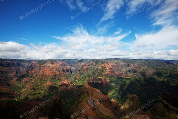 Canyon in Kauai