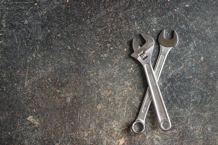 Chrom-Vanadium-Schlüssel. Industriemaulschlüssel