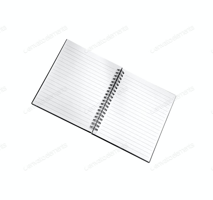 blank background. paper spiral notebook isolated on whit