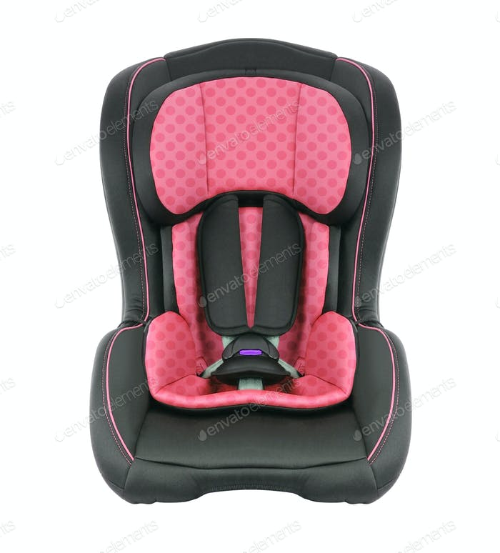 A child's car seat isolated on a white