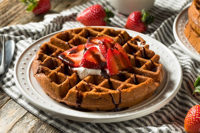 Homemade Dark Chocolate Waffles
