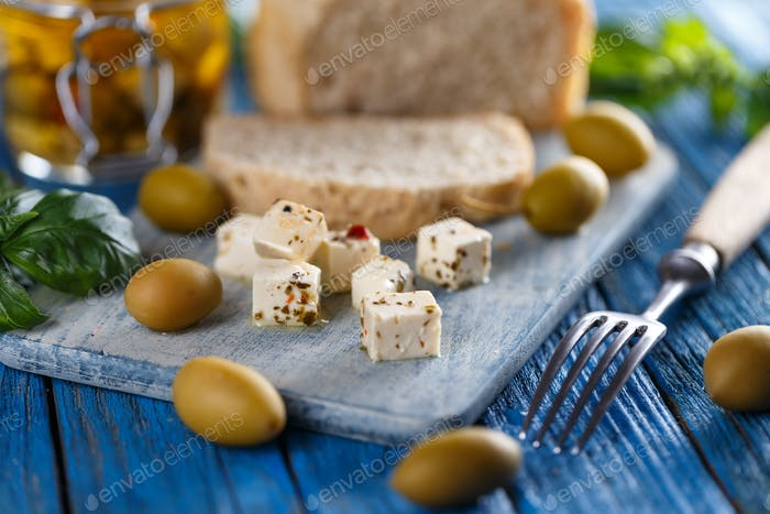 Cheese with spices