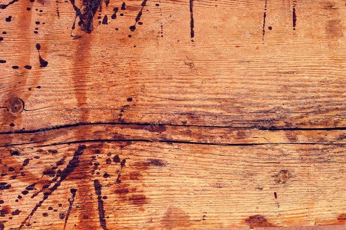 Rough old rustic wooden plank background with cracks