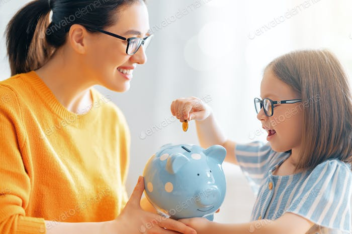 women calculating family budget