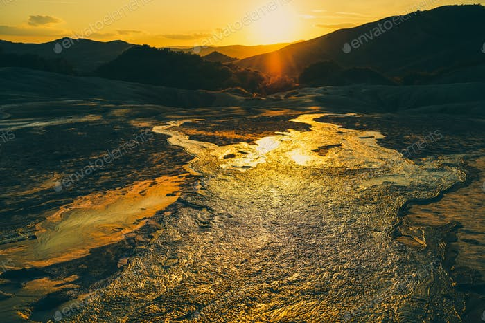 Mud Volcano Flowing