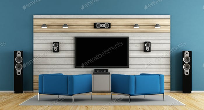 Blue home cinema