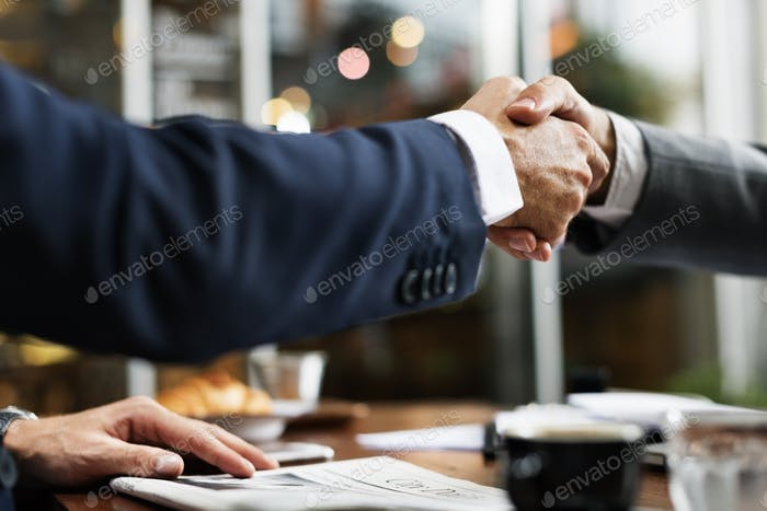 Business Handshake Success Deal Konzept