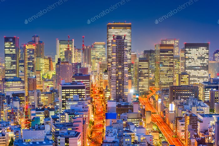 Osaka, Japan Night Cityscape