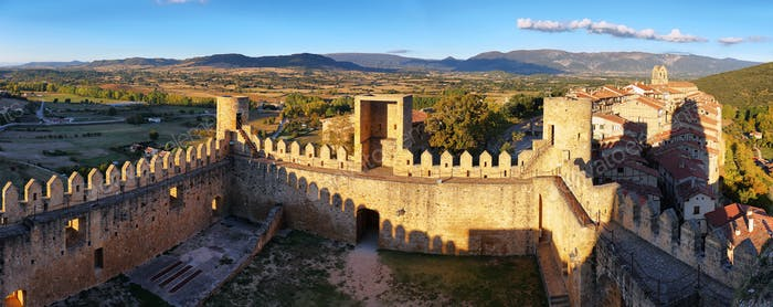 Panoramic view of Frias, Burgos, Spain